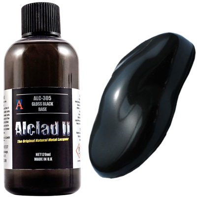 Alclad II Gloss Black Base Primer (120ml)