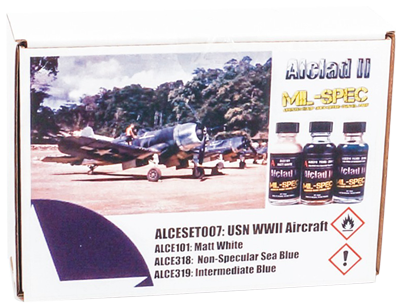 Alclad Ii Usn Wwii Aircraft Set 3x 30ml Airbrushes Com
