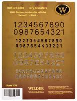 WWII German numbers Variant 1 Black