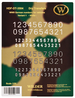 WWII German numbers Variant 1 White
