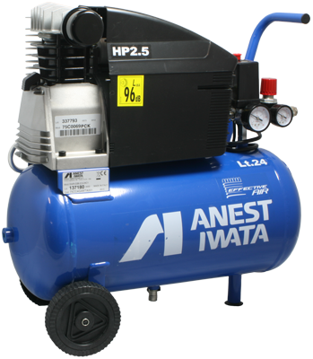 Anest-Iwata Effective Air 24 Litre Tank Compressor