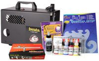 Iwata Art & Graphics Airbrush Kit with Power Jet Lite Compressor