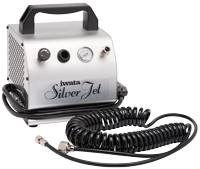 Iwata Studio Series Silver Jet compressor [NEW | UNUSED | EX-DISPLAY | DAMAGED BOX]