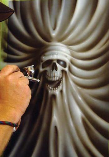 Stretching Skullmaster Airbrush Tutorial by Craig Fraser