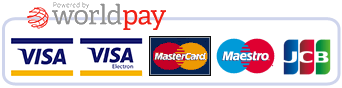 All major credit and debit cards accepted through Worldpay.