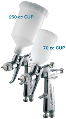 Iwata LPH-80 LVLP Spray Gun with 0.4mm Nozzle 250 & 70cc Cups