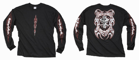 Fraser-Vandemon Long Sleeve Tribal T-shirt (medium)
