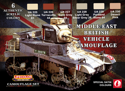 LifeColor Middle East British Tank Set (22ml x 6)