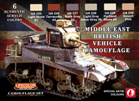 LifeColor Middle East British Tank Set (22ml x 6) [NEW | DAMAGED BOX]