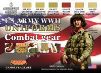 LifeColor USA WWII Army Uniforms Set 2 (22ml x 6)