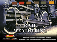 LifeColor Rail Weathering Set (22ml x 6)