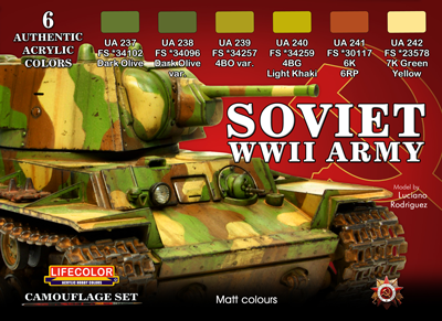 LifeColor Soviet WWII Army Set (22ml x 6), Airbrushes com