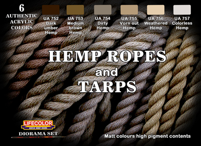 LifeColor Hemp Ropes and Tarps set (22ml x 6)