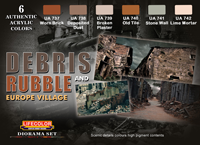 LifeColor Debris & Rubble Set (22ml x 6) [NEW | DAMGAED BOX]