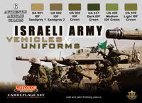 LifeColor Israeli Army Vehicles & Uniforms Set (22ml x6)