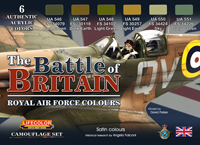 LifeColor Battle of Britain RAF Set (22ml x 6) [NEW | UNUSED | MISSING BOX]