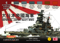 LifeColor Imperial Japan Navy WWII Late War Set 1 (22ml x 6)