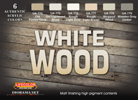 LifeColor White Wood Set (22ml x 6)