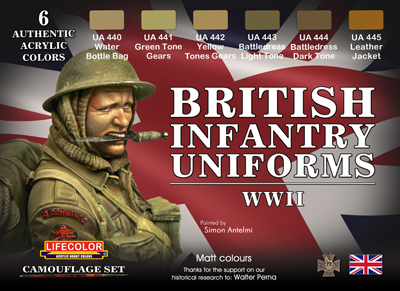 Lifecolor British Uniforms Wwii Set Airbrushes Com