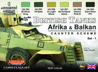 LifeColor British Tanks Africa & Balkan set 1