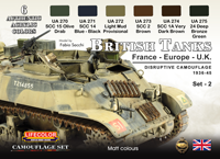 LifeColor British Tanks Set 2 France, Europe & UK