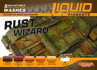 Lifecolor Liquid Pigments Rust Wizard Set Airbrushes Com