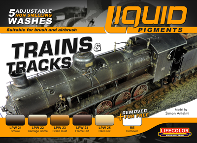 LifeColor Liquid Pigments Trains & Tracks set