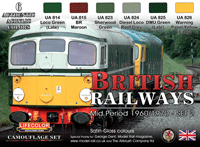 LifeColor British Railways - Mid Period 1960/1970 - Set 2 (22ml x 6)