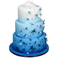 Moody Blues Airbrushed Cake Tutorial by Lisa Munro