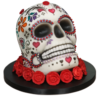 Day of the Dead Airbrushed Cake Tutorial by Lisa Munro