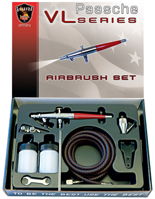 Paasche VL-3AS Airbrush Set (with all 3 Heads)