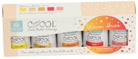 Squires Kitchen COCOL Cocoa Butter Colouring - Warm Hues (5 x 15g)