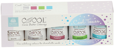 Squires Kitchen COCOL Cocoa Butter Colouring - Cool Tones (5 x 15g)