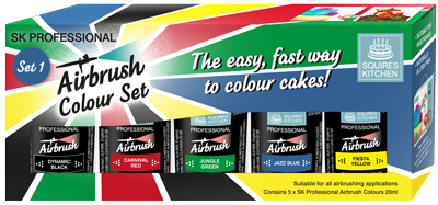 Squires Kitchen Professional Airbrush Colour - Set 1 (5 x 20ml)