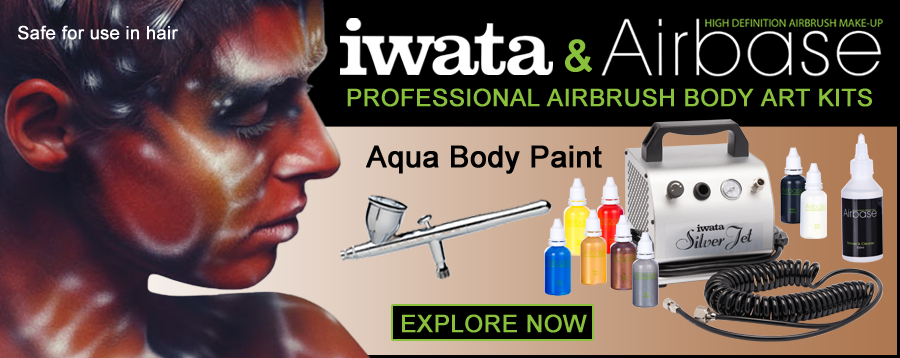 Airbase Aqua and Iwata airbrush and compressor kits.