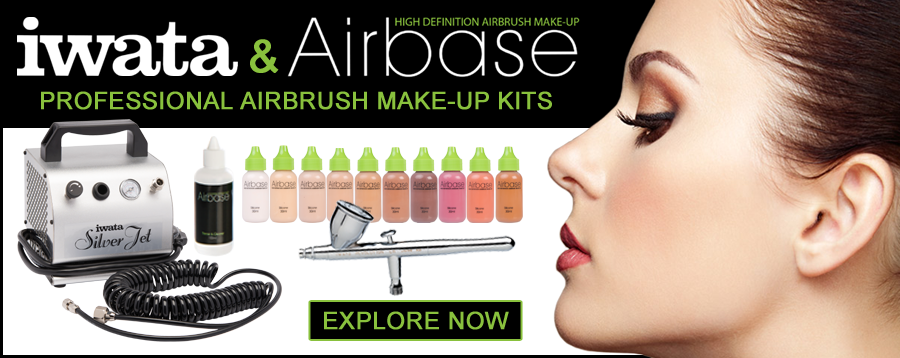 Airbase and Iwata airbrush and compressor kits.
