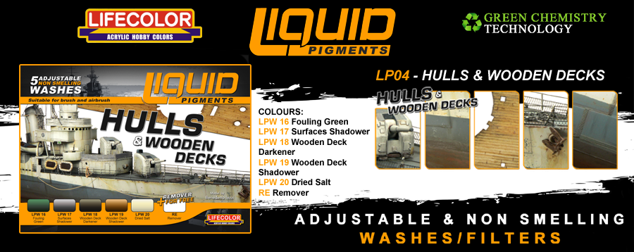 New Lifecolor Liquid Pigments - Hulls and Wooden Decks Set