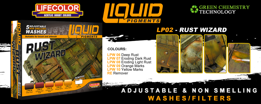 New Lifecolor Liquid Pigments - Rust Wizard Set