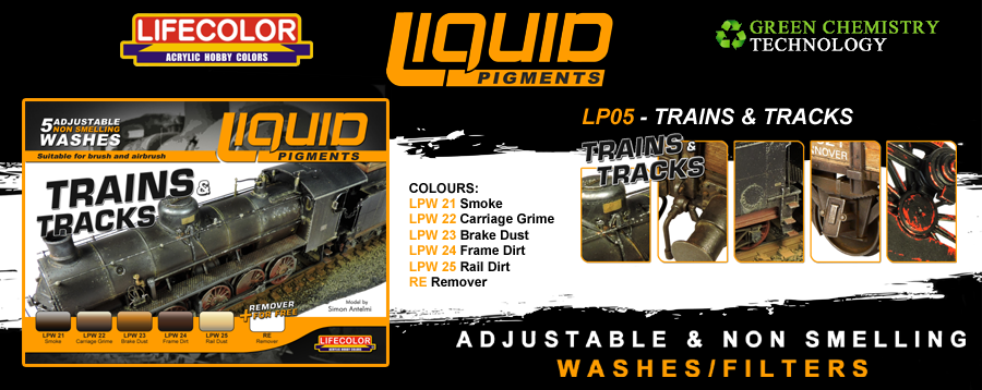New Lifecolor Liquid Pigments - Trains and Tracks Set