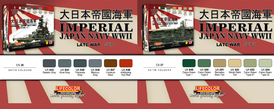 New LifeColor Imperial Japan Navy Sets