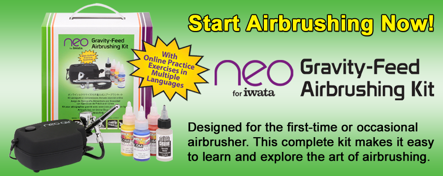 NEO for Iwata Gravity Feed Airbrushing Kit