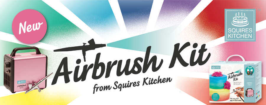 NEW Squires Kitchen Airbrush Kit for cake decorating.