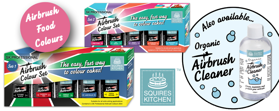 NEW Squires Kitchen Professional Airbrush Colours.