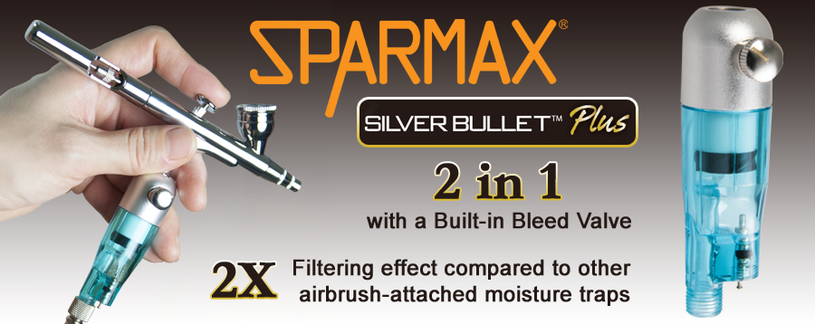Sparmax Silver Bullet Plus moisture filter with adjustable bleed valve