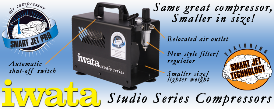 New Iwata Smart Jet Pro with smaller footprint.