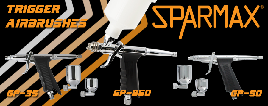 Sparmax GP Series pistol trigger airbrushes