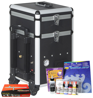 Iwata Art & Graphics Airbrush Kit with Maxx Jet Compressor and storage unit