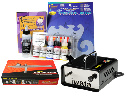 Iwata Art & Graphics Airbrush Kit with Ninja Jet Compressor