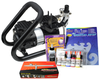 Iwata Art & Graphics Airbrush Kit with Power Jet Plus Handle Tank Compressor