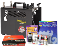 Iwata Art & Graphics Airbrush Kit with Power Jet Pro Compressor